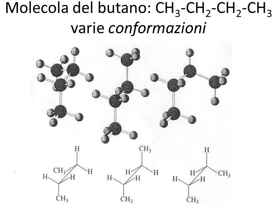 Molecola del butano: CH 3 -CH 2 -CH 2 -CH 3 varie conformazioni. H 3 -CH 2 -CH 2 -CH 3