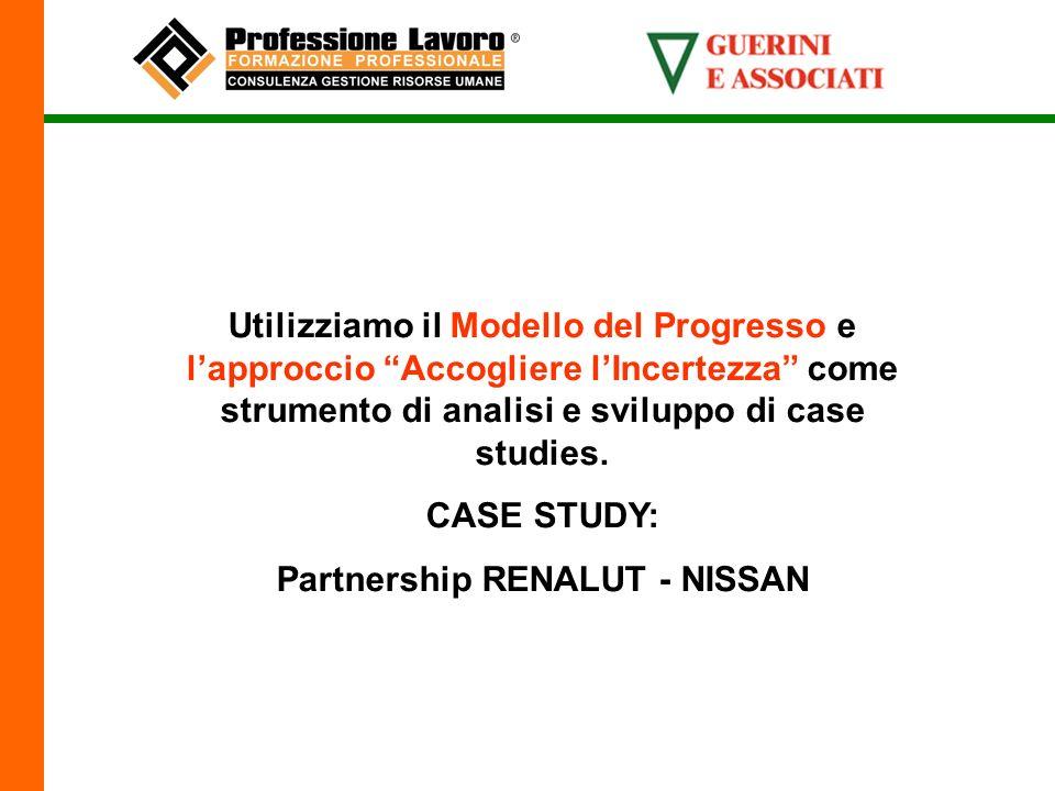 Utilizziamo il Modello del Progresso e lapproccio Accogliere lIncertezza come strumento di analisi e sviluppo di case studies.