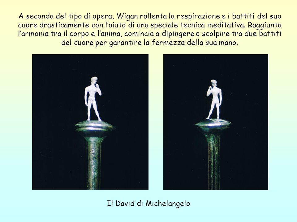 Il David di Michelangelo A seconda del tipo di opera, Wigan rallenta la respirazione e i battiti del suo cuore drasticamente con laiuto di una special