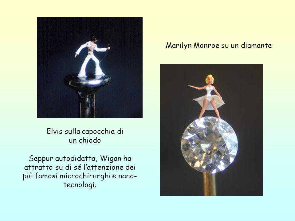 Elvis sulla capocchia di un chiodo Marilyn Monroe su un diamante Seppur autodidatta, Wigan ha attratto su di sé lattenzione dei più famosi microchirur