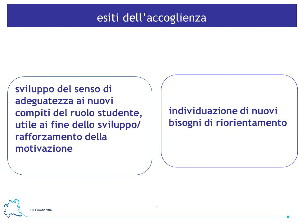 USR Lombardia 7 sviluppo del senso di adeguatezza ai nuovi compiti del ruolo studente, utile ai fine dello sviluppo/ rafforzamento della motivazione i
