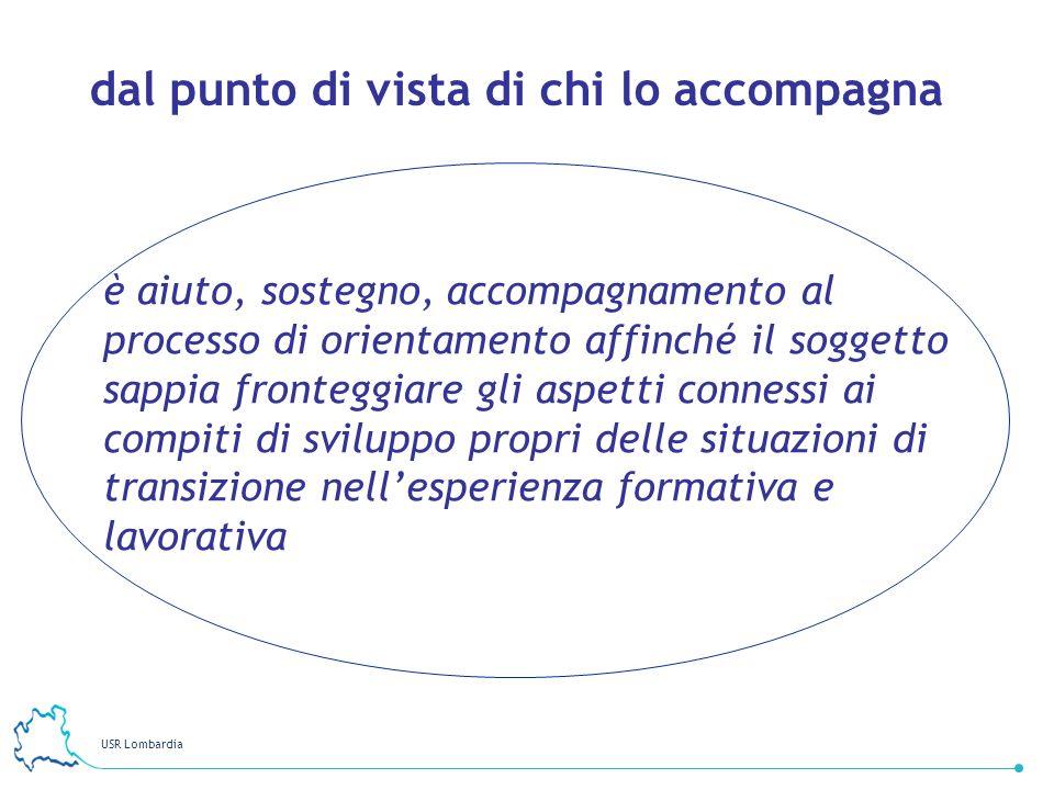 USR Lombardia 12 dal punto di vista di chi lo accompagna è aiuto, sostegno, accompagnamento al processo di orientamento affinché il soggetto sappia fr