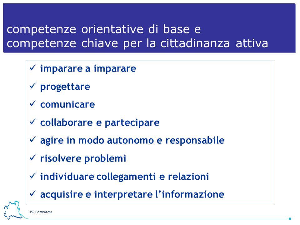 USR Lombardia 15 imparare a imparare progettare comunicare collaborare e partecipare agire in modo autonomo e responsabile risolvere problemi individu