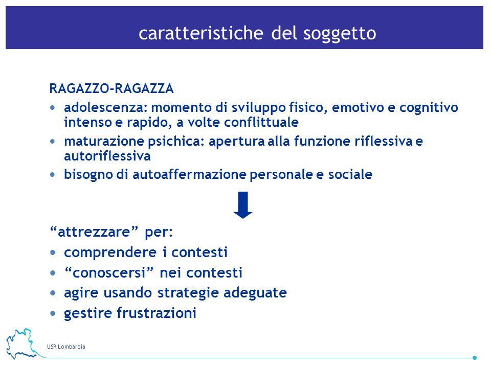 USR Lombardia 17 caratteristiche del soggetto RAGAZZO-RAGAZZA adolescenza: momento di sviluppo fisico, emotivo e cognitivo intenso e rapido, a volte c