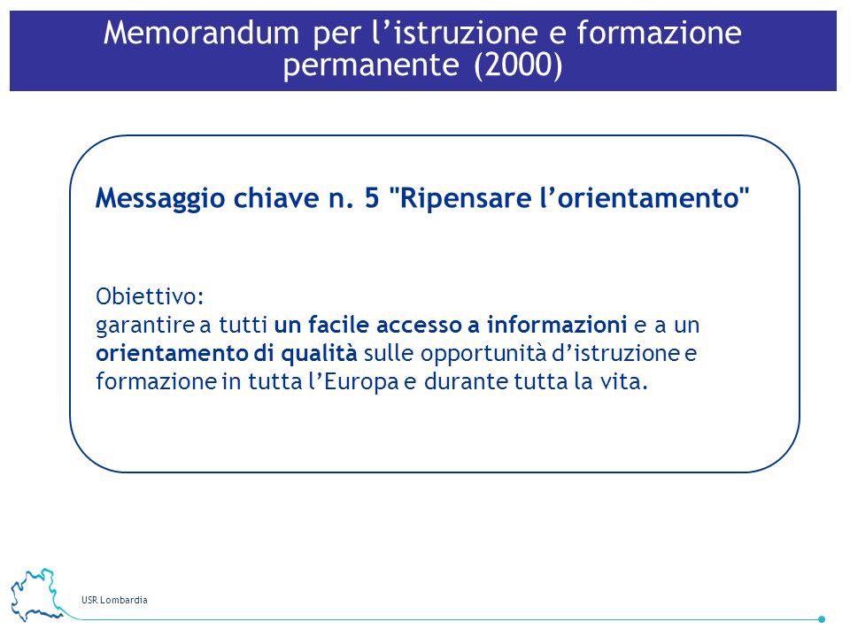 USR Lombardia 34 Messaggio chiave n. 5