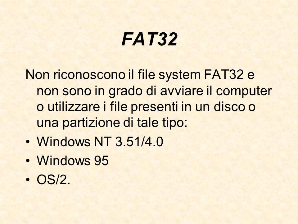 FAT32 Non riconoscono il file system FAT32 e non sono in grado di avviare il computer o utilizzare i file presenti in un disco o una partizione di tal