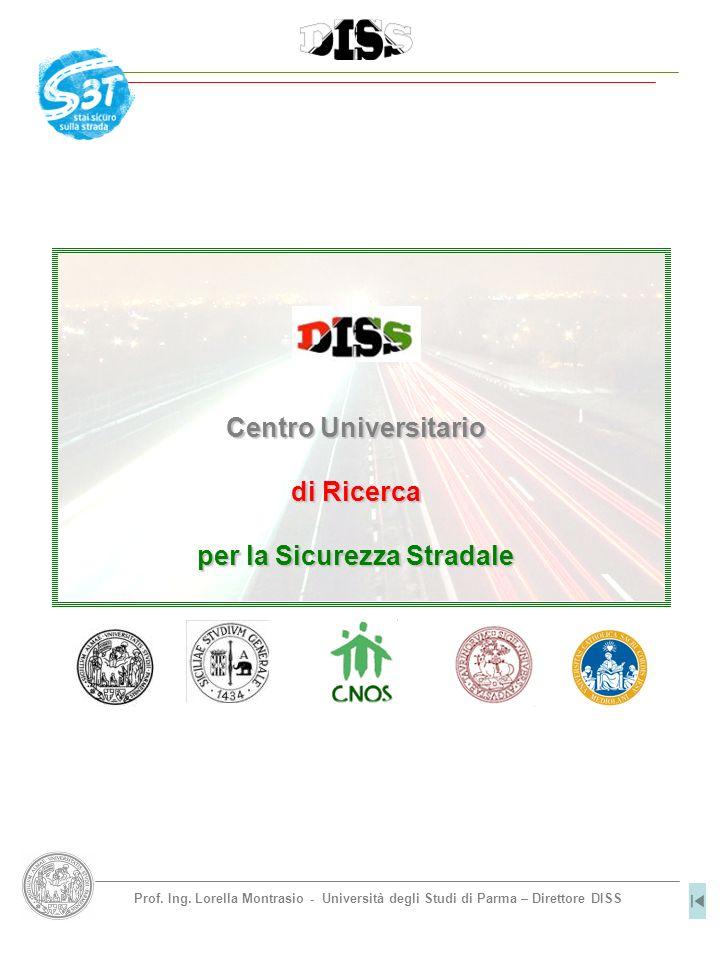 Prof. Ing. Lorella Montrasio - Università degli Studi di Parma – Direttore DISS Centro Universitario di Ricerca per la Sicurezza Stradale