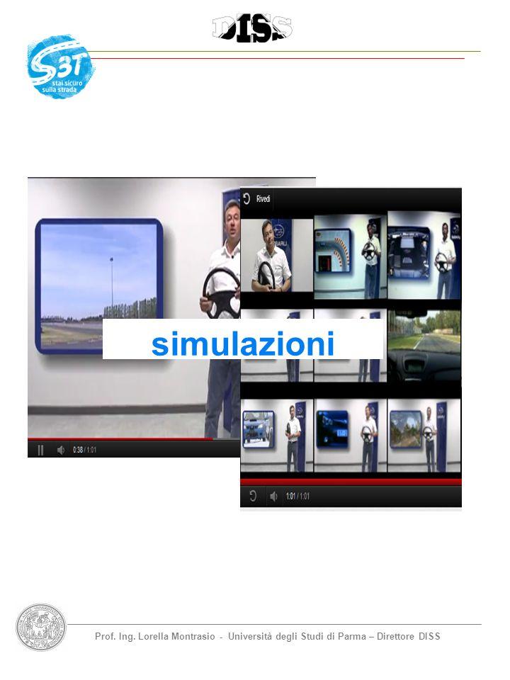 Prof. Ing. Lorella Montrasio - Università degli Studi di Parma – Direttore DISS simulazioni