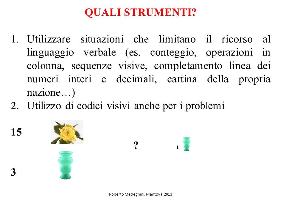 QUALI STRUMENTI.1.Utilizzare situazioni che limitano il ricorso al linguaggio verbale (es.