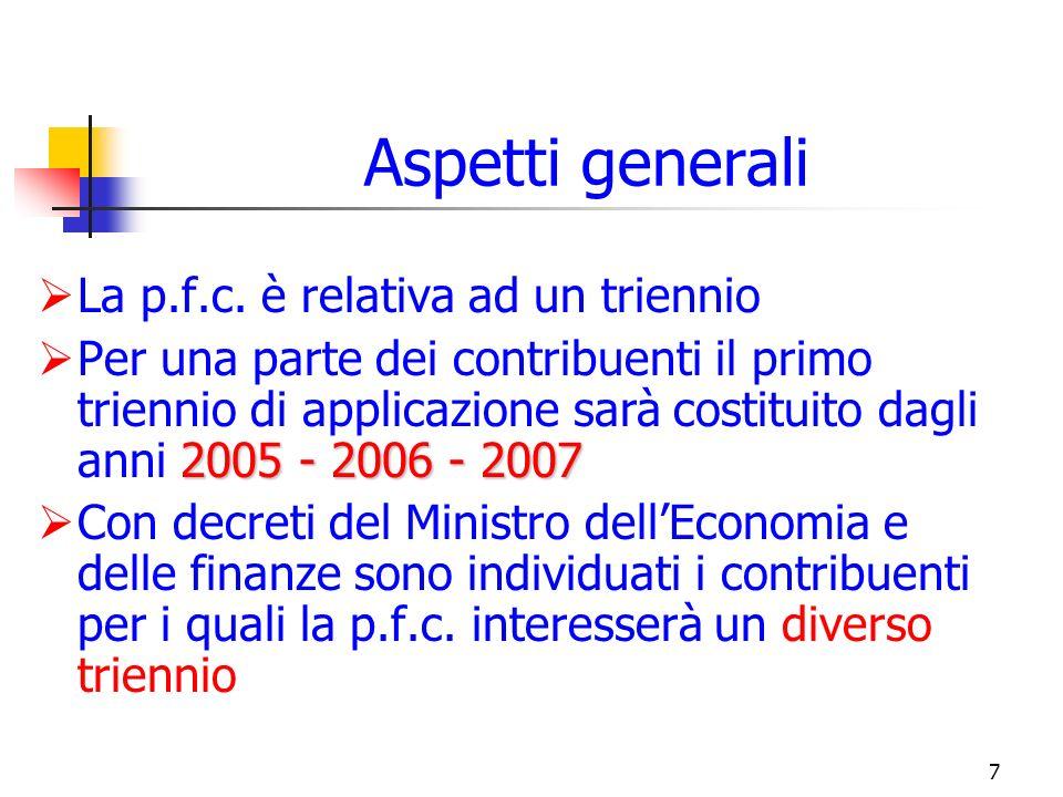 7 Aspetti generali La p.f.c.