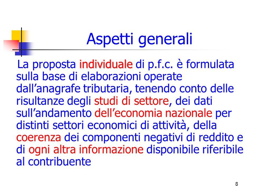 8 Aspetti generali individuale La proposta individuale di p.f.c.