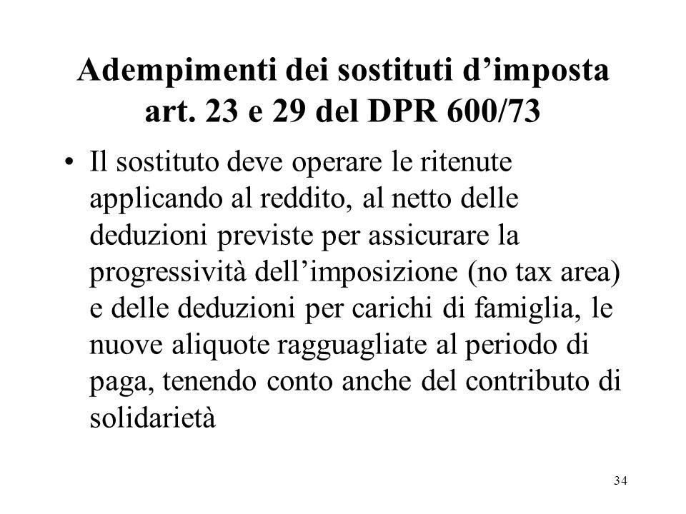34 Adempimenti dei sostituti dimposta art.
