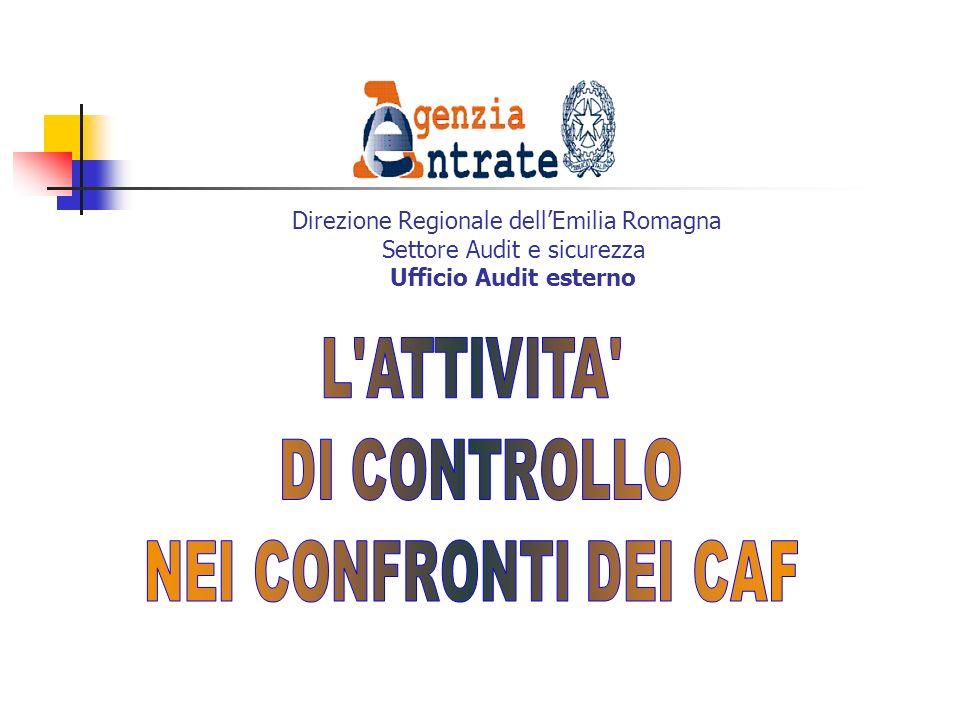 Direzione Regionale dellEmilia Romagna Settore Audit e sicurezza Ufficio Audit esterno