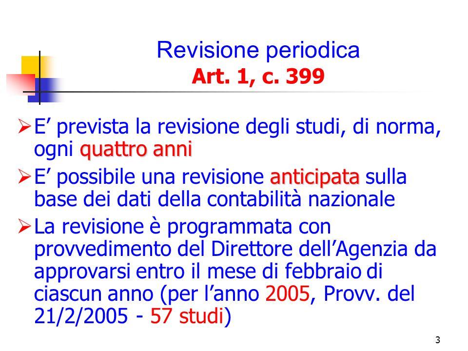4 Revisione straordinaria Art.1, c.