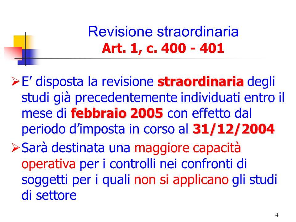 5 Nuove disposizioni per laccertamento Art.1, c.