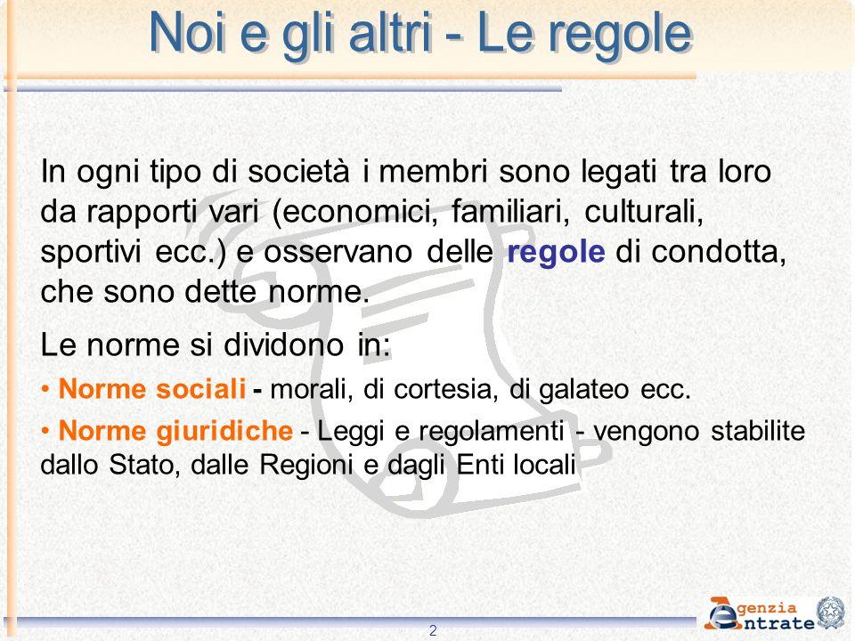 2 In ogni tipo di società i membri sono legati tra loro da rapporti vari (economici, familiari, culturali, sportivi ecc.) e osservano delle regole di