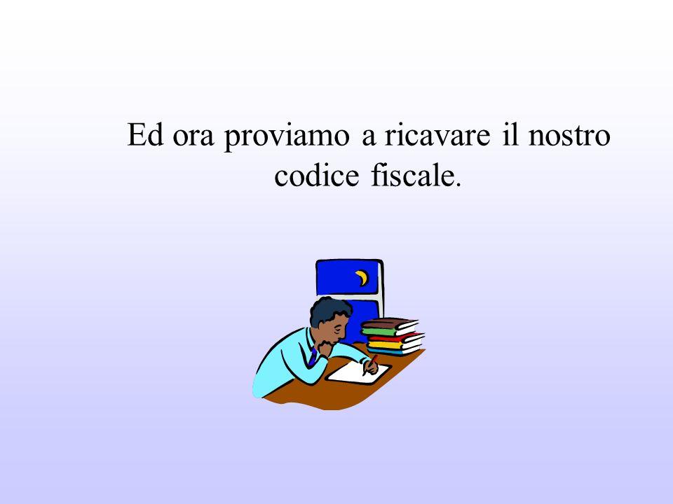 Il codice fiscale è unespressione alfanumerica formata da 16 caratteri fra numeri e lettere.