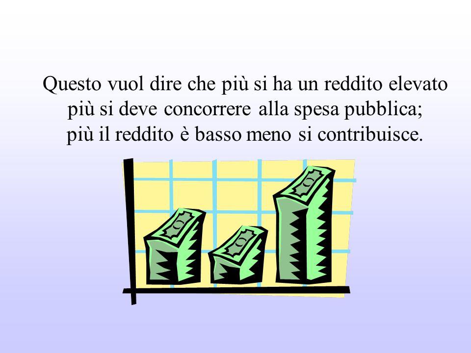 Tutti sono tenuti a concorrere alle spese pubbliche in ragione della propria capacità contributiva. Il sistema tributario è informato a criteri di pro