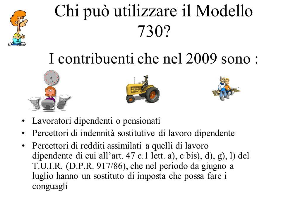 Chi può utilizzare il Modello 730.