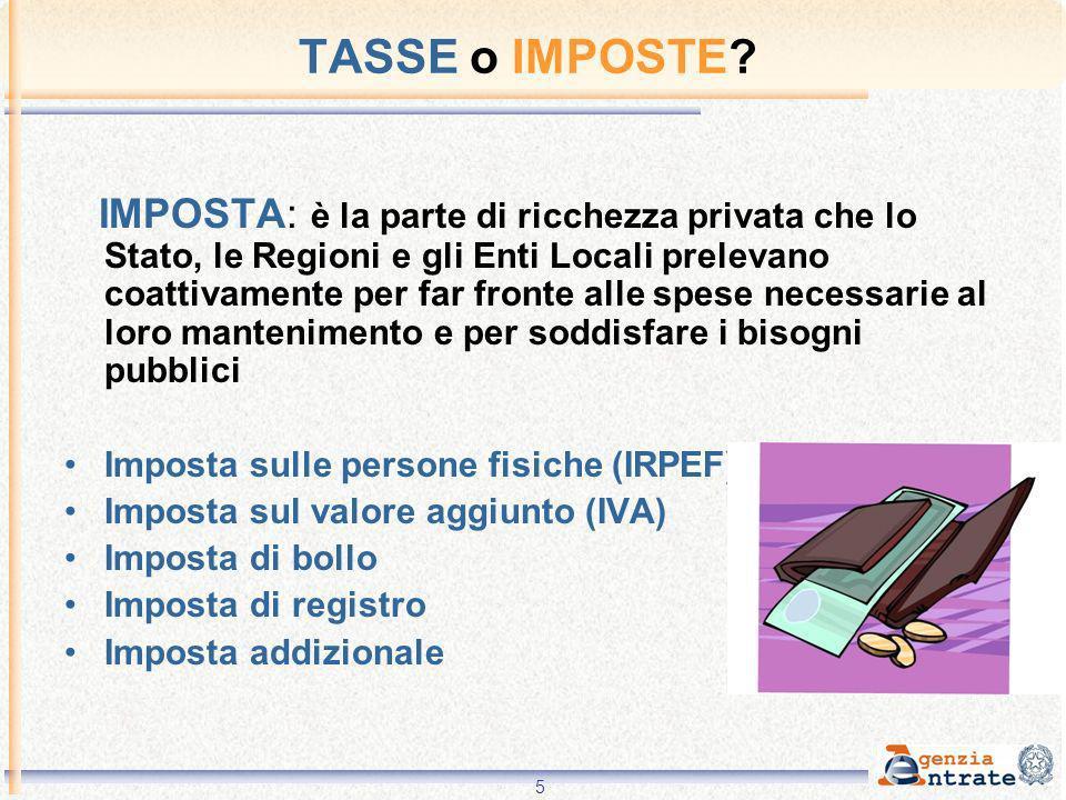 6 Le imposte principali IRPEF Imposta sui Redditi delle Persone Fisiche E unimposta diretta che colpisce i redditi prodotti dalle persone fisiche.