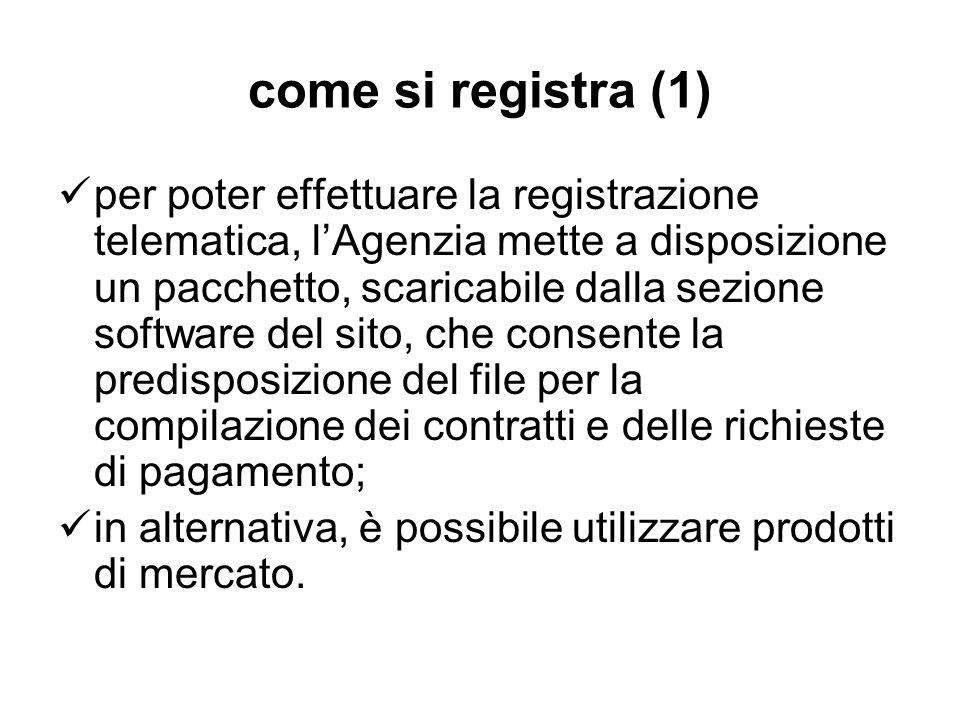come si registra (1) per poter effettuare la registrazione telematica, lAgenzia mette a disposizione un pacchetto, scaricabile dalla sezione software