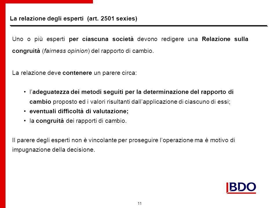 11 La relazione degli esperti (art.