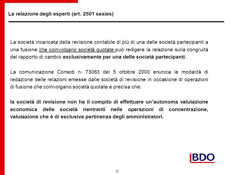 12 La relazione degli esperti (art.