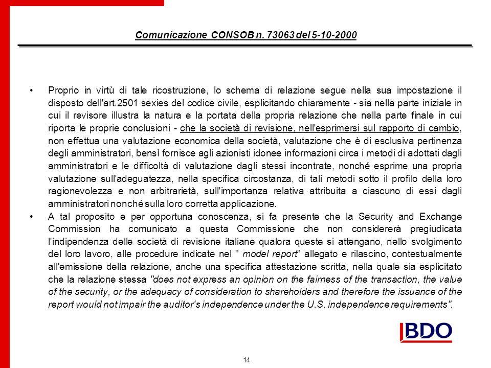 14 Comunicazione CONSOB n.