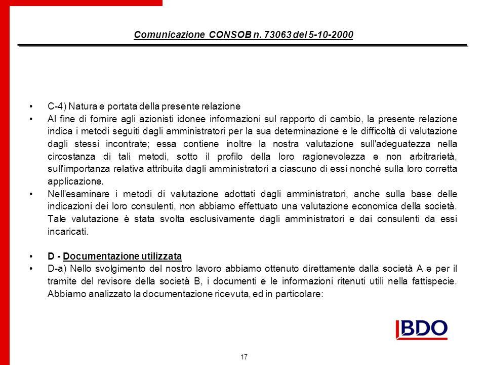 17 Comunicazione CONSOB n.