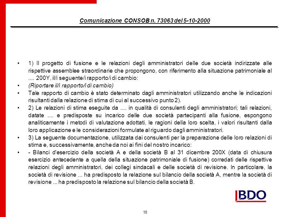 18 Comunicazione CONSOB n.