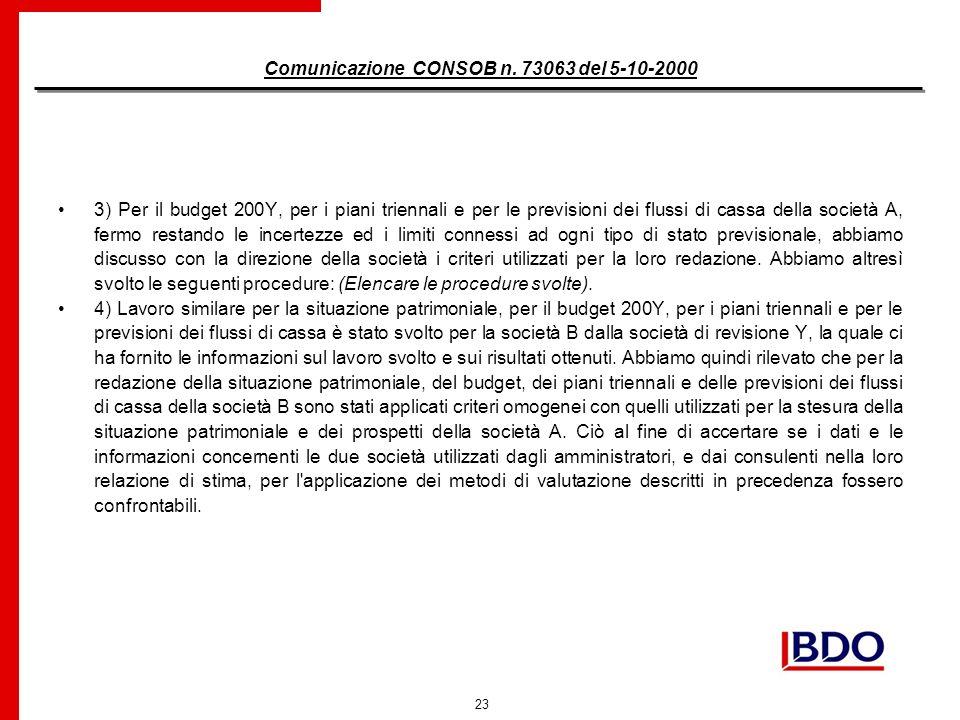 23 Comunicazione CONSOB n.