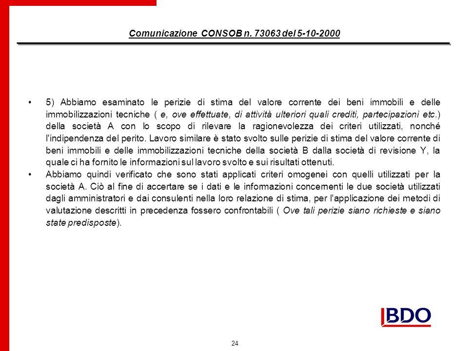 24 Comunicazione CONSOB n.