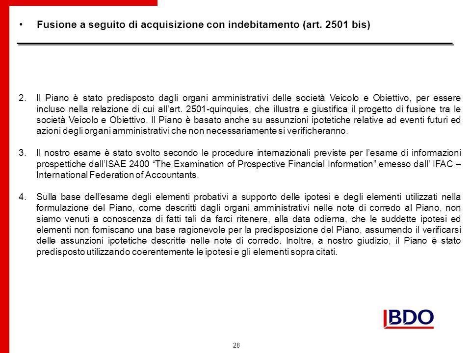 28 Fusione a seguito di acquisizione con indebitamento (art.