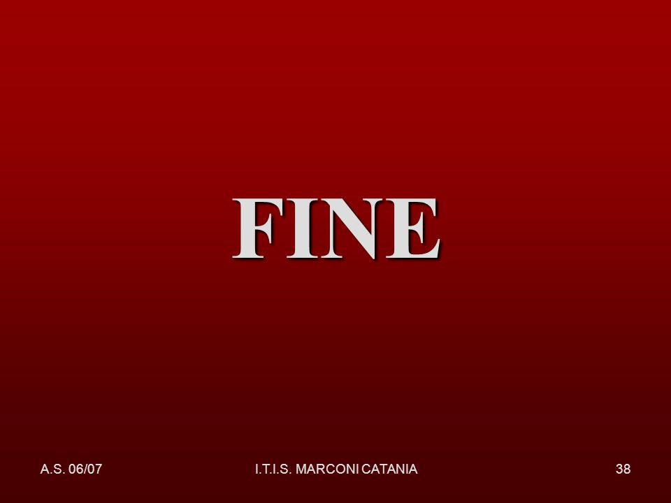 A.S. 06/07I.T.I.S. MARCONI CATANIA38 FINE