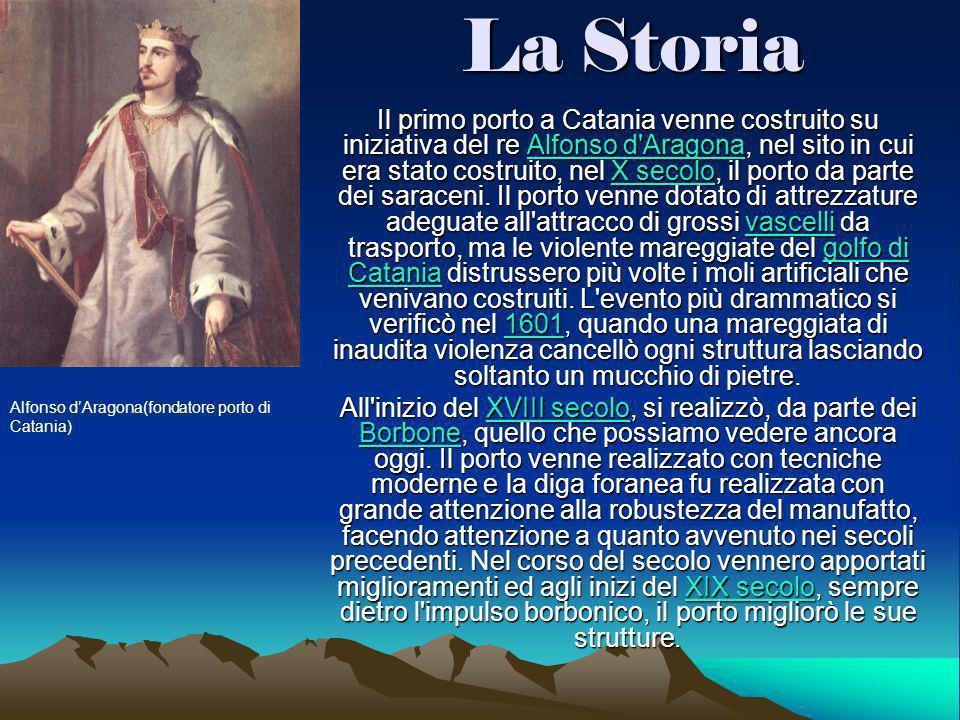 Dopo la costruzione della Ferrovia Messina-Catania, il 1° luglio 1869 la Stazione di Catania Centrale venne collegata al porto mediante un raccordo in discesa lungo 914 metri costruendovi inoltre un fascio di binari e la Stazione di Catania Marittima.