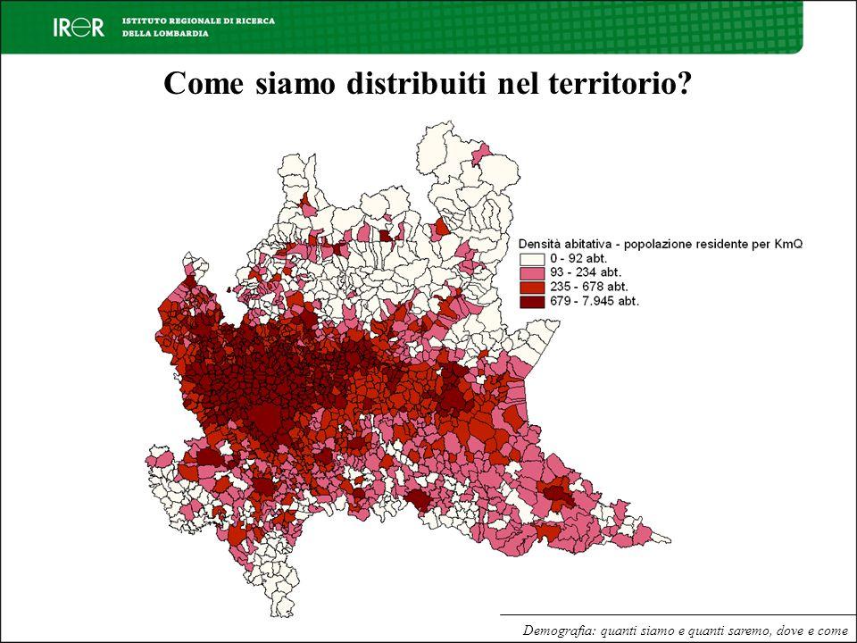 Demografia: quanti siamo e quanti saremo, dove e come Come siamo distribuiti nel territorio?