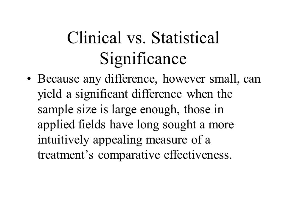 Clinical vs.