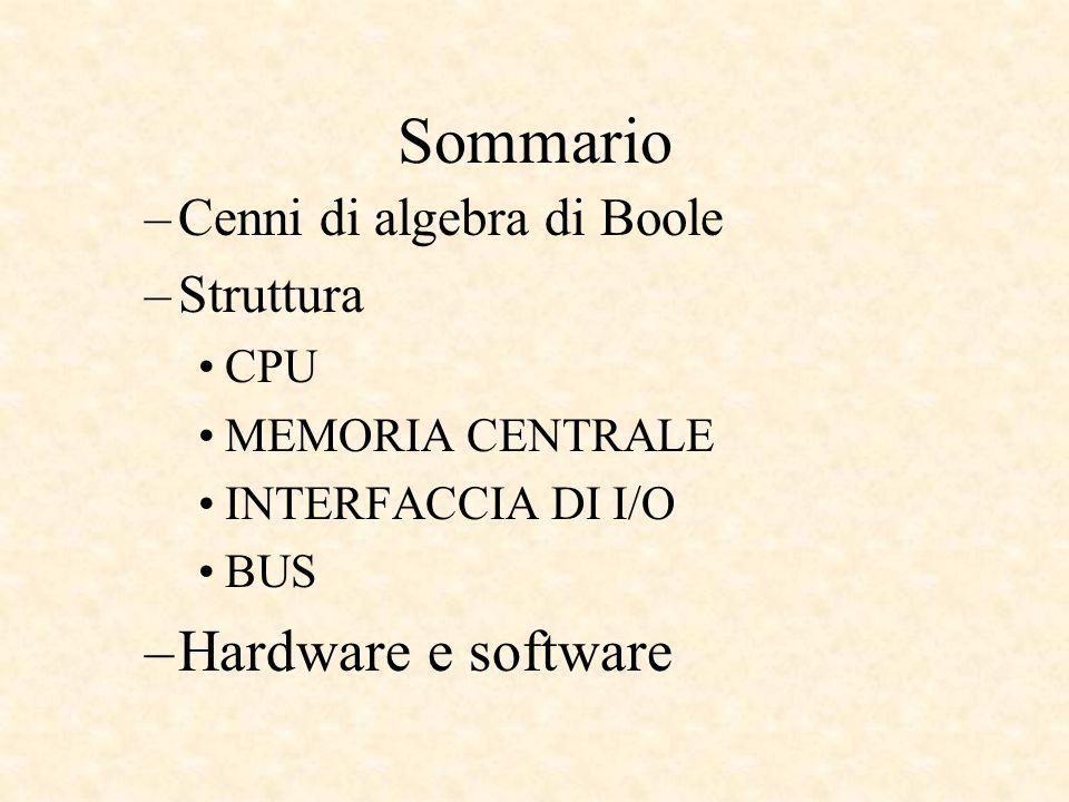 Software Affinchè la Macchina di Von Neumann funzioni, però, è necessario che le celle della memoria centrale riportino sequenze binarie opportune, dette istruzioni macchina codificanti, operazioni significative della CPU tramite le quali realizziamo un programma, ovvero in ultima analisi la codifica di un algoritmo di risoluzione di un problema.