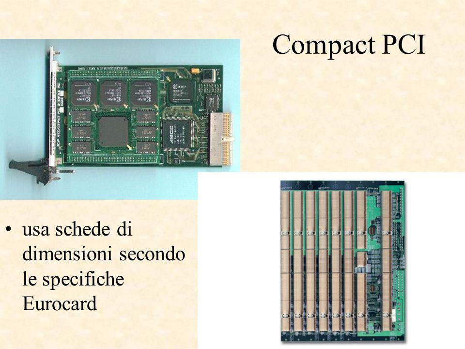 Compact PCI usa schede di dimensioni secondo le specifiche Eurocard