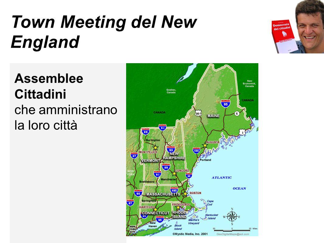 Town Meeting del New England Assemblee Cittadini che amministrano la loro città