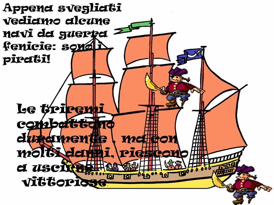 Finalmente, dopo una settimana di navigazione, giungiamo al porto di Crotone dove vengono curati i soldati e i rematori delle triremi.