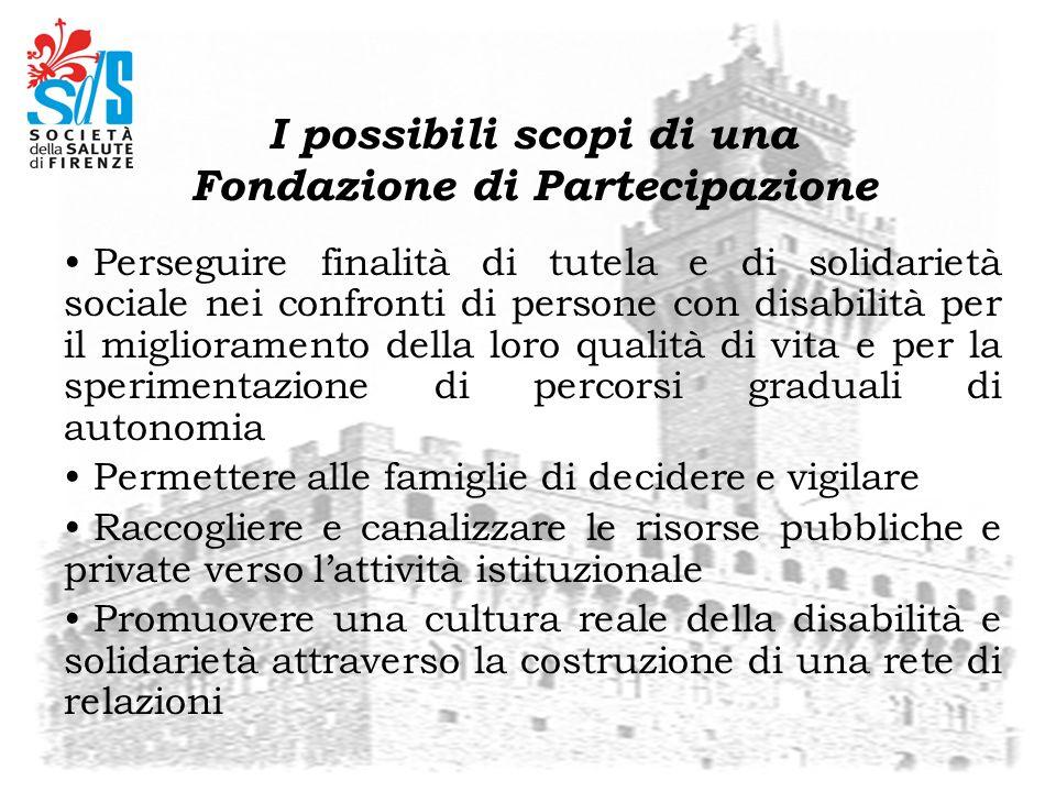 Perseguire finalità di tutela e di solidarietà sociale nei confronti di persone con disabilità per il miglioramento della loro qualità di vita e per l