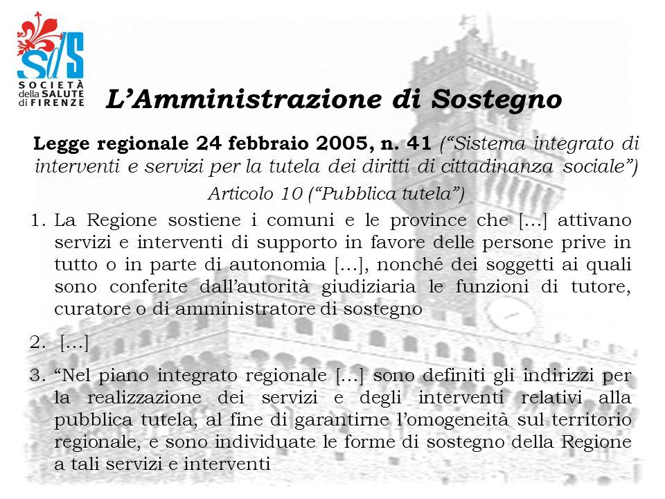 Legge regionale 24 febbraio 2005, n. 41 (Sistema integrato di interventi e servizi per la tutela dei diritti di cittadinanza sociale) Articolo 10 (Pub