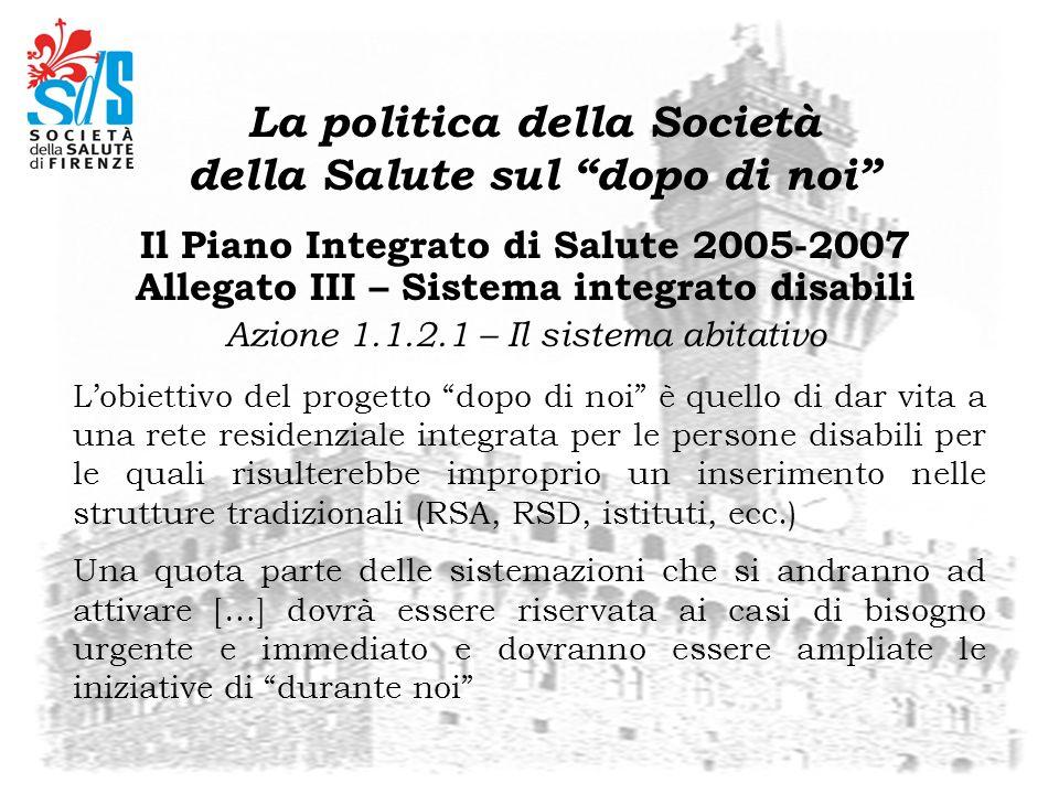 Il Tavolo di Coordinamento cittadino Comune di Firenze A.S.L.