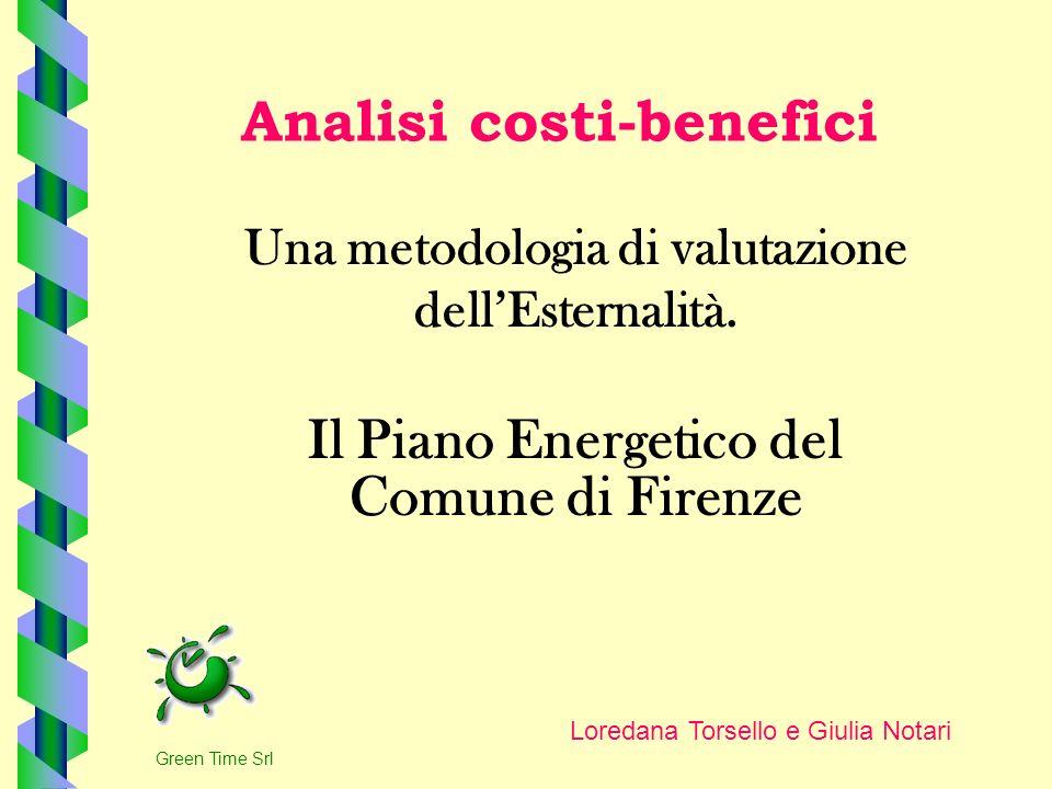 Analisi costi-benefici Una metodologia di valutazione dellEsternalità. Il Piano Energetico del Comune di Firenze Loredana Torsello e Giulia Notari Gre