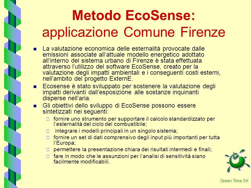 Metodo EcoSense: applicazione Comune Firenze La valutazione economica delle esternalità provocate dalle emissioni associate allattuale modello energet