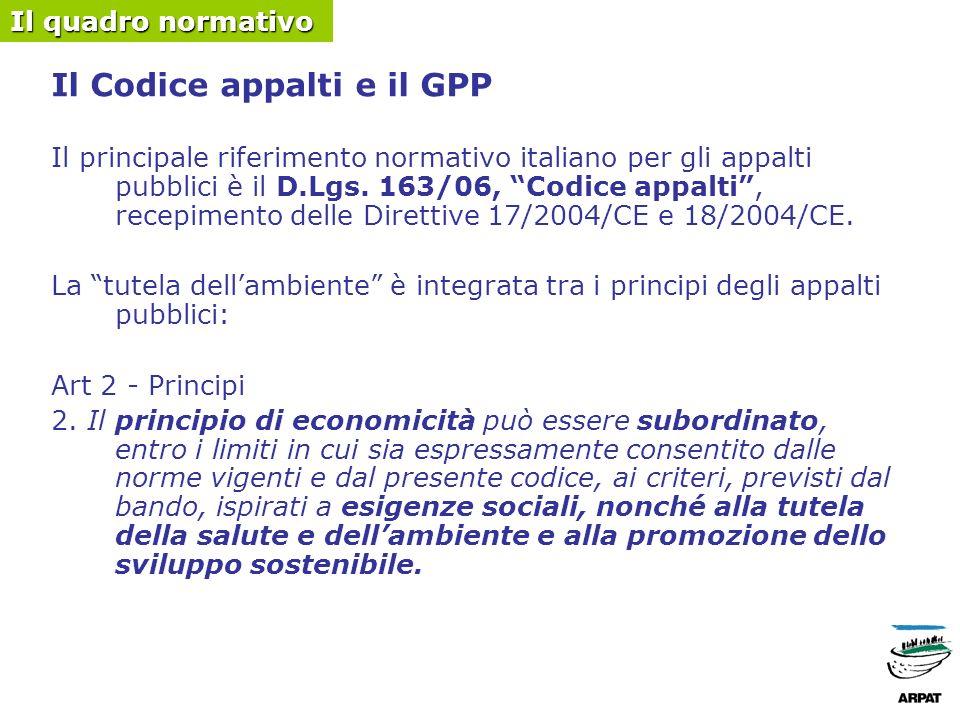 Il Codice appalti, le fasi di un appalto pubblico e il GPP Oggetto: libertà della stazione appaltante Selezione dei candidati (artt.