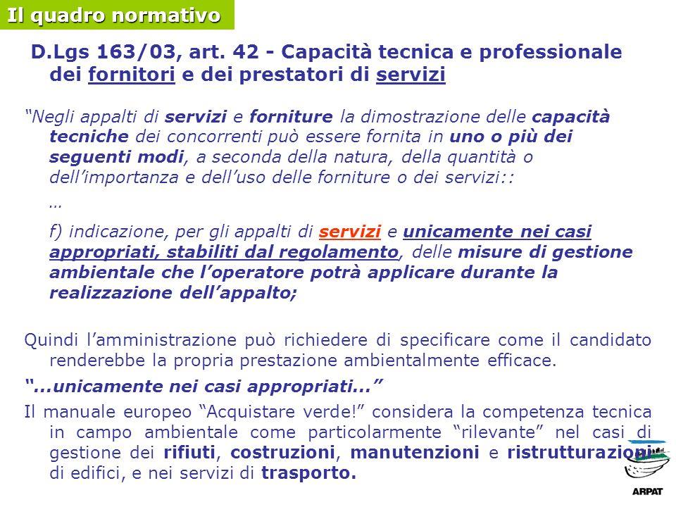 D.Lgs 163/03, art.