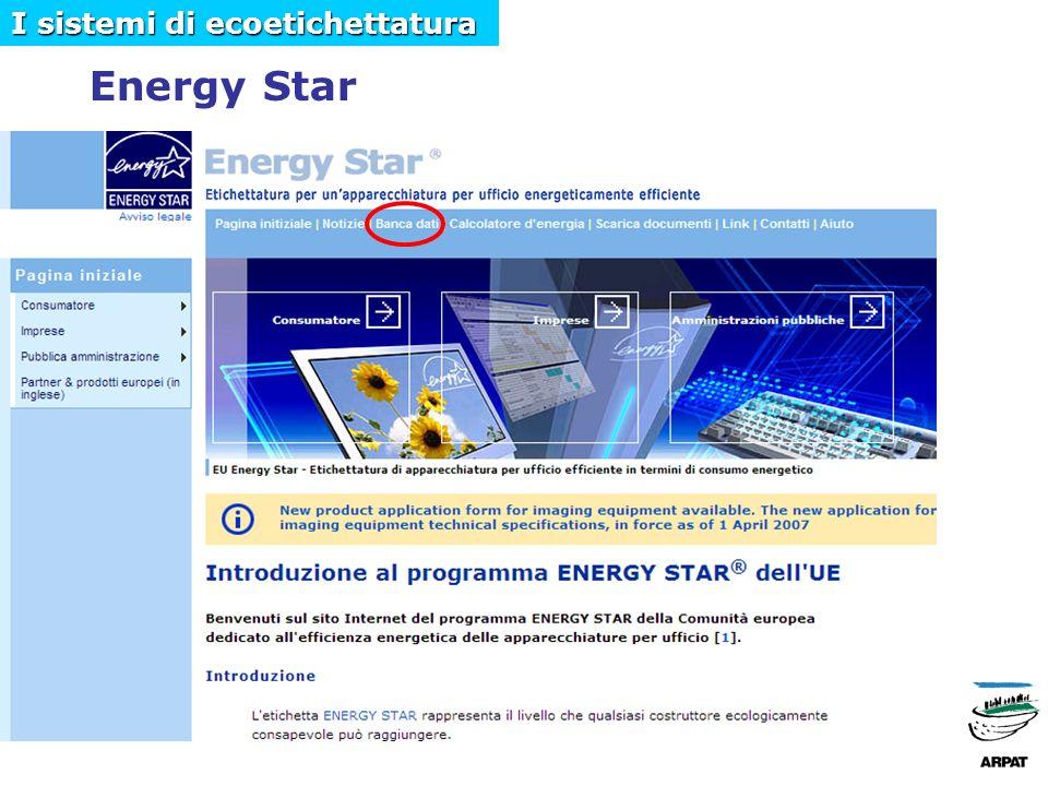 Energy Star I sistemi di ecoetichettatura