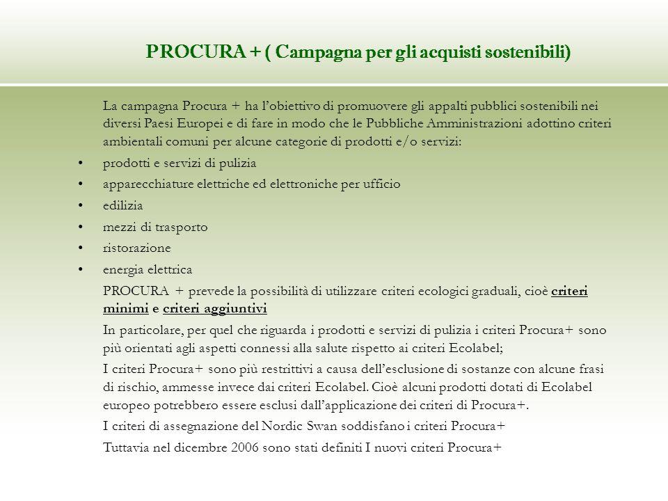 La campagna Procura + ha lobiettivo di promuovere gli appalti pubblici sostenibili nei diversi Paesi Europei e di fare in modo che le Pubbliche Ammini